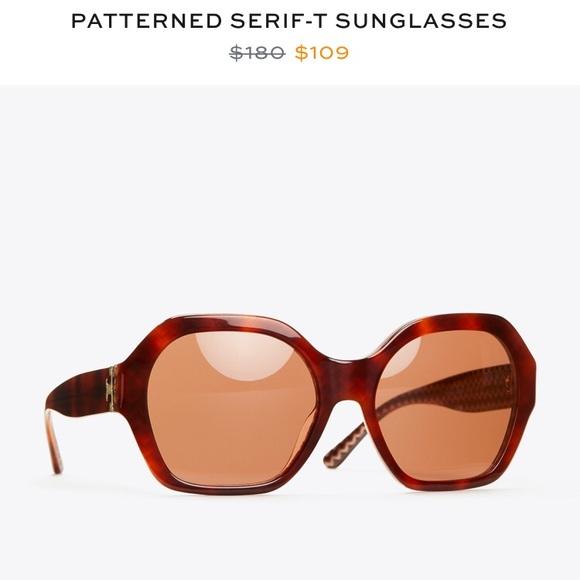 660ea4e77af8 Tory Burch Accessories   Nwot Patterned Serift Sunglasses   Poshmark